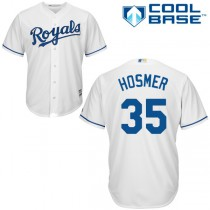 Youth Majestic Kansas City Royals #35 Replica Home 2015 Cool Base MLB Jersey - Eric Hosmer