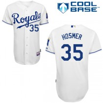 Youth Majestic Kansas City Royals #35 Replica Home Cool Base MLB Jersey - Eric Hosmer